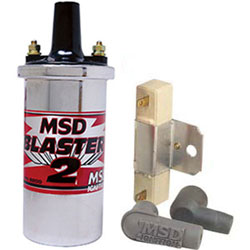 MSD High Performance Chrome Blaster 2 Coil Kit With Resistor