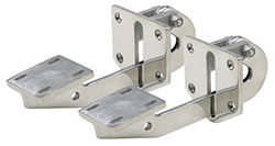 Polished Stainless Steel Long Hidden Hatch Hinges
