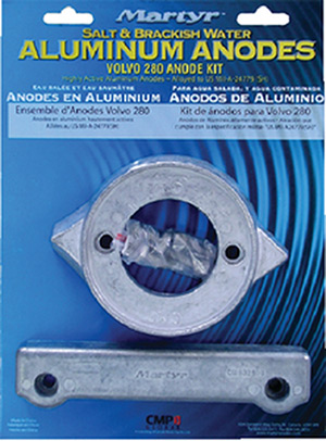 Martyr Aluminum Anode Kit For Volvo Penta 280 Engine (Contains 1-V18, 1-CM832598 and Fastening Hardware)