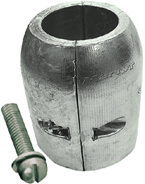 Clamp Shaft Zinc Anode With Slotted Screw, 7/8""