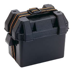 Attwood Standard Battery Box, Black, Vented - Fits Group 16