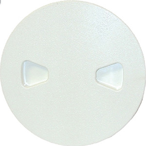 Beckson Pry-Out Deck Plate With Standard Trim Ring, Dimple Center