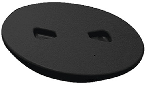 Beckson Screw Out Deck Plate With Standard Trim Ring, Diamond Center