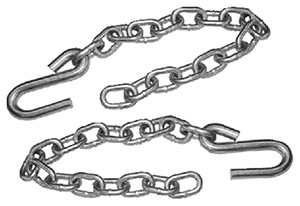 Tie Down Engineering Safety Chain With S-Hooks - Sold as Pair