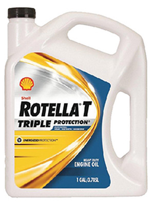 Rotella T Triple Protection 15W-40 Weight Diesel Oil, 2.5 Gal.
