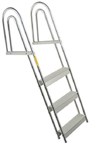 Garelick EEz-In Anodized Aluminum 5 Step Dock/Raft Ladder - Fixed Model