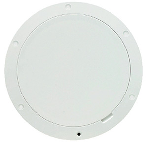 Beckson Pry-Out Deck Plate With Standard Trim Ring, Smooth Center