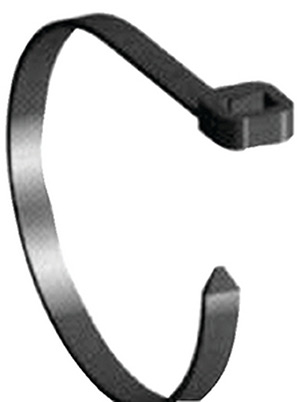 Beckson Nylon Cable Ties With Mounting Hole 7""