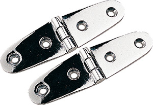 Chrome Brass Strap Hinge