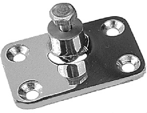 Side Mount Deck Hinge, 4-Hole Stainless. Each