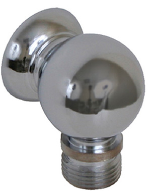 "Scandvik 10003 Chrome Plated Brass Compact Bulkhead Connection For Shower Hose, 3/8"" BSP-M Hose Connection"""