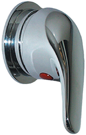"Scandvik 10479 Single Lever Shower Mixer Valve With Compact Trim Ring (Includes (3) 1/2"" Hose Barb Fittings)"""