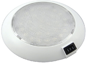"Aqua Signal Colombo 5-1/2"" Red/White 12V LED Light With Switch"""