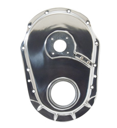 Polished Aluminum Timing Cover With Pump Drive Hole - Big Block Chevy Gen 5