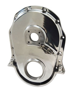 Polished Aluminum Timing Cover With Pump Drive Hole - Big Block Chevy