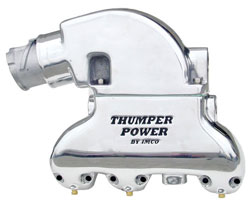 Thumper Power - Black GM V-6 Exhaust System w/Shift Bracket