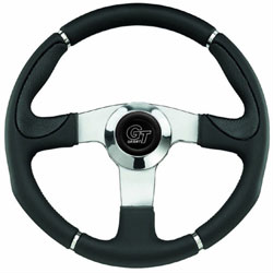 "13-1/2"" Century Steering Wheel with Polished Solid Spokes"