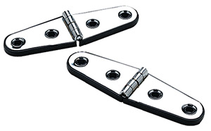 "Seachoice Stainless Steel Strap Hinges With Base 4"" x 1-1/16"" (1 Pair Per Pack)"""