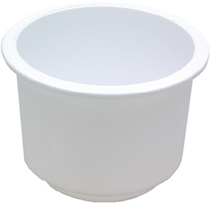 Drink Holder White, Lg. Recessed
