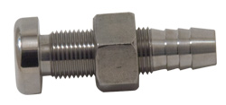 "1/2"" Slip-On Hose Thru-Hull Stainless Steel Water Dump"