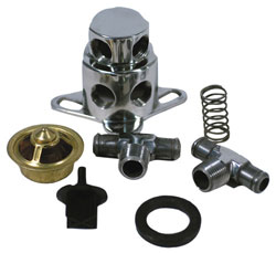 Polished Stainless Thermostat Kit For Chevy, 455 Olds