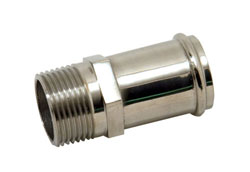 "Stainless Steel 3/4"" NPT Male To 1"" Hose Fitting"