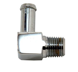 "90 Degree Chrome Plated Brass 1/8"" x 3/8"" Hose Fitting"