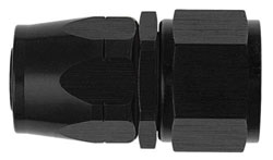 Black Straight Non-Swivel AN Hose End