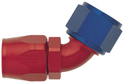 Red/Blue 60 Degree Non-Swivel Hose End