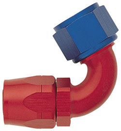 Red/Blue 120 Degree Non-Swivel Hose End