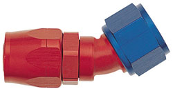 Red/Blue 30 Degree Double-Swivel AN Hose End