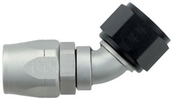 Ti-Tech 45 Degree Double-Swivel AN Hose End