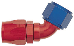 Red/Blue 60 Degree Double-Swivel AN Hose End