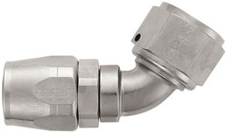 Super Nickel 60 Degree Double-Swivel AN Hose End