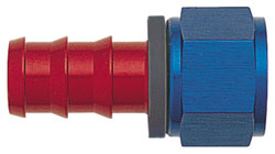Blue/Red Straight Push-On Hose End