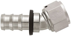 Super Nickel 30 Degree Push-On Hose End