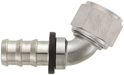 Super Nickel 60 Degree Push-On Hose End