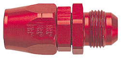 Red Straight Male AN Flare to Double-Swivel AN Hose End