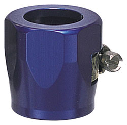 Blue Hex Hose Finisher with Clamp