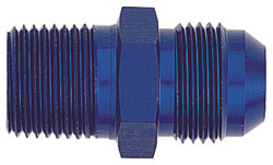 Blue Straight Degree Male AN Flare to NPT Pipe Adapter