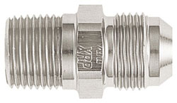 Super Nickel Straight Degree Male AN Flare to NPT Pipe Adapter