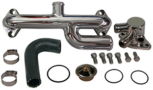 Big Block Chevy Water Inlet Crossover Kit with Bypass
