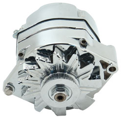 94 Amp Single Wire Chromed Marine Alternator