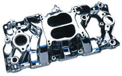 Small Block Chevy '57-'95 Satin Intake Manifolds