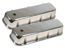 Big Block Chevy Tall Polished Plain Smooth Aluminum Valve Cover