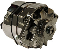 Delco Style 120 Amp Chrome Alternator