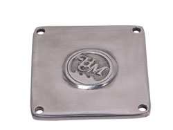 "Bellhousing Inspection Hole Cover, 4-Bolt Square 3-1/2"" x 3-3/8"" Bolt Centers"