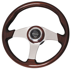 Mahogany Polished Steering Wheel, 14.1