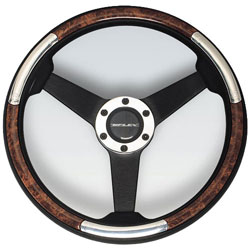 Linosa Black Aluminum Steering Wheel, 13.8