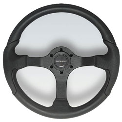 Nisida Black Aluminum Spoke Steering Wheel, 13.8